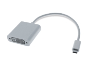 0,2M USB-C 3.1 / DVI-D Adapterkabel, St/Bu, weiß, 1080p@60Hz