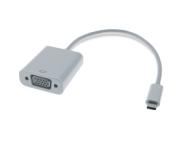 0,2M USB-C 3.1 / VGA Adapterkabel, St/Bu, weiß, 1920x1200@60Hz