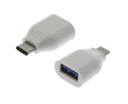 USB-C 3.1 - USB-A 3.0 Adapter, St/Bu, weiß