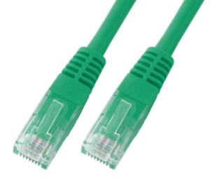 CAT6 Netzwerkkabel U-UTP, PVC, 5 GBit, 0.50m, grün