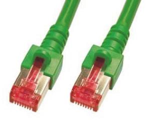 CAT6 Netzwerkkabel, S-FTP, PIMF, halogenfrei, 1GB, 1.0m, grün