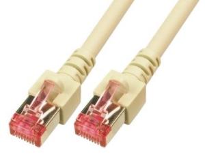 CAT6 Netzwerkkabel S-FTP, PIMF, halogenfrei, RJ45, 5GBit, 1.0m, grau