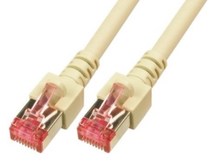 CAT6 Netzwerkkabel S-FTP, PIMF, halogenfrei, RJ45, 5GBit, 2.0m, grau