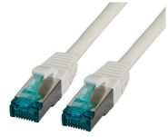 CAT6A Netzwerkkabel S-FTP,PIMF, halogenfrei, 10GB, grau, 0.50m