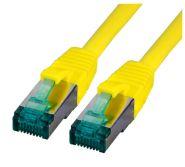 CAT6A Netzwerkkabel S-FTP,PIMF, halogenfrei, 10GB, gelb, 0.50m
