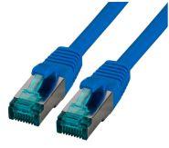 CAT6A Netzwerkkabel S-FTP,PIMF, halogenfrei, 10GB, blau, 0.50m