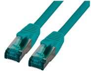 CAT6A patch cord S/FTP, LSZH, RJ45, 10Gbps, 7.50m, green