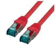CAT6A Netzwerkkabel S-STP,PIMF, halogenfrei, 10GB, rot, 2.00m