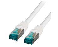 CAT6A Netzwerkkabel S-FTP,PIMF, halogenfrei, 10GB, weiss, 2.00m