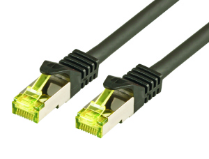 CAT7 Roh-Netzwerkkabel S-FTP, PIMF, LSZH, 10GB, 15.0m, sw