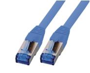 CAT6A Netzwerkkabel S-FTP, superflex, LSZH, blau, 0.25m