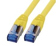 CAT6A Netzwerkkabel S-FTP, superflex, LSZH, gelb, 0.50m