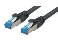CAT6A Netzwerkkabel S-FTP, superflex, LSZH, schwarz, 0.25m