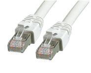 RJ45 Patchkabel S/FTP, CAT.8.1, LSZH, 1,0m, grau