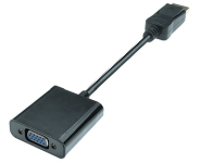 DisplayPort 1.2 zu VGA Adapter, 1080p Full HD, St/Bu, 0.2m, schwarz
