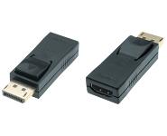 Displayport 1.2 to HDMI High Speed AV Adapter, 4K@60Hz, m/f, black, active