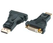 Displayport 1.2 to DVI 24+1 AV Adapter, 1080p Full HD, male/female, black