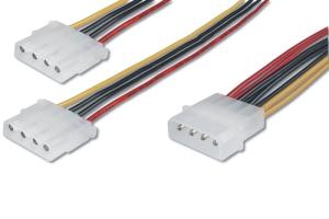 """Kabel Y-Strom-Adapter intern 2* 5.25"""""""