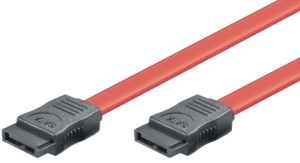 HDD SERIAL ATA connection cable, L-type m/m, 1.5Gbit / 3Gbit, 0.50m, red