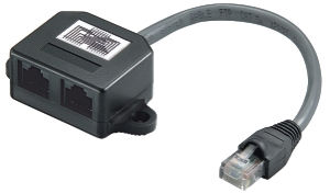 CAT Y - Adapter, cable splitter, pinout 1 : 1