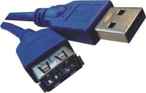 USB 3.0 Kabel - A/A - St/Bu - 1.80m - blau
