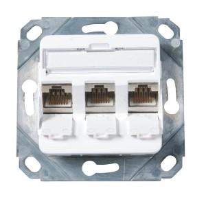 Rahmenset 3-fach für Keystones - RAL9010
