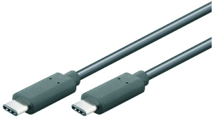 USB-C 3.1 Kabel - Stecker/Stecker - 0.50m, schwarz