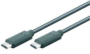 USB-C 3.1 Kabel, St/St. - 1.00m, schwarz