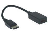 DisplayPort - HDMI Kabel Adapter, DP Stecker / HDMI Buchse, 20cm