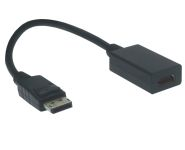 DisplayPort - HDMI Kabel Adapter, St/Bu, 15cm