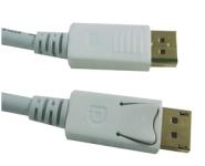 DisplayPort 1.2 Anschlusskabel, St/St, 2m, 4K, weiß