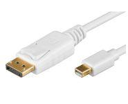 DisplayPort 1.2 mini - DP Anschlusskabel, St/St, 1m, gold, weiß