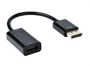 DisplayPort 1.2 - HDMI Kabel Adapter, St/Bu, 10cm