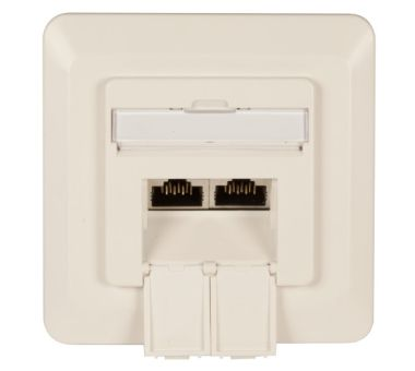 CAT 6 Surface Modular Outlet, 2 x RJ45