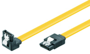 HDD SERIAL ATA CABLE, up to 6GBs,7p Type L to 7p. 90° L-Type, w/Lock, 0,3m