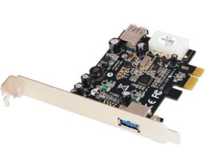 Schnittstellenkarte PCIe USB 3.0, 1+1 Port