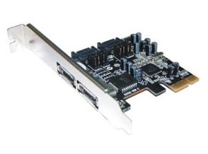 Schnittstellenkarte PCIe SATA II Card, RAID, 3GB/s, 2+2 Port