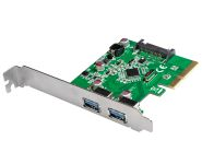 PCI EXPRESS USB 3.1 Gen2 Card, 2 Ports, 10Gbps, low-profile-bracket