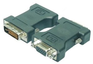 DVI to VGA Adapter, Dual Link 24+5/m to VGA 15p/f