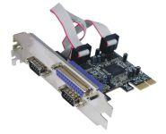 Schnittstellenkarte PCIe - 2x Seriell - 1x Parallel