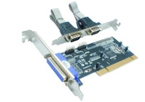 Schnittstellenkarte PCI - Seriell 2 Port + Parallel 1 Port