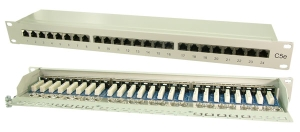 Patch Panel CAT 5e, 24 Port, 19 Zoll, geschirmt