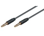 3.5mm Verbindungskabel - St/St - 2.0m - schwarz - CU