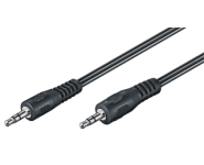 Audio connection cable AUX, 3,5mm 3pin stereo, m/m, 10m, black