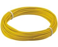 Kupferlitze isoliert, 10m, 1.1mm, 1-adrig, gelb