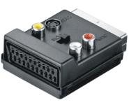 SCART /St zu SCART /Bu - 3x RCA - S-Video /Bu Adapter, IN/OUT