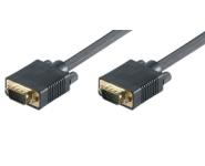 SVGA Monitorkabel - St/St - 0.8m - schwarz, FullHD