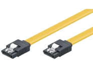 HDD S-ATA III connection cable, 6Gbps, clip, 0.3m, L-Type m/m, flat