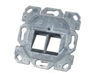 Tragring 2-fach, für Keystones, RJ45,