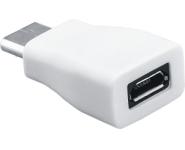 USB-C zu USB 2.0 microB Adapter, St/Bu, weiß